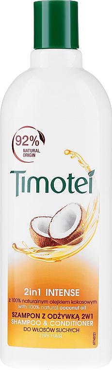 2in1 Shampoo & Conditioner für trockenes Haar mit Bio Kokosöl - Timotei 2in1Intense Shampo & Conditioner