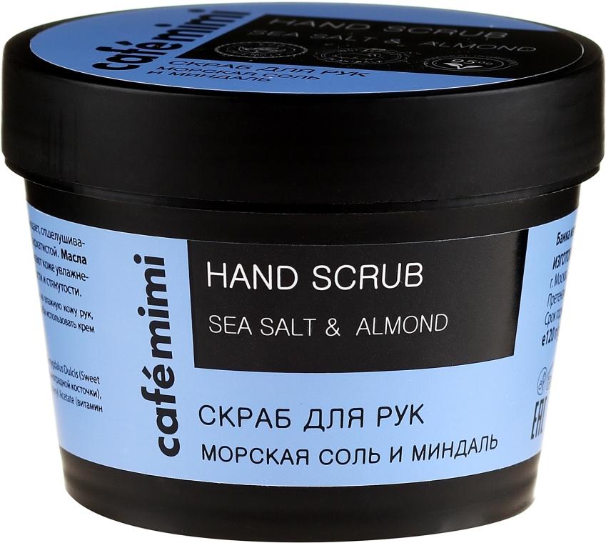 Handpeeling mit Meersalz und Mandel - Cafe Mimi Hand Scrub