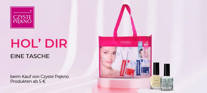 Beim Kauf von Czyste Piękno Produkten ab 5 € erhältst Du eine Tasche geschenkt