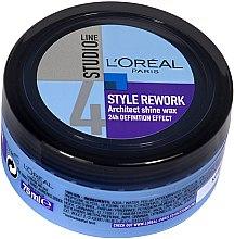 Düfte, Parfümerie und Kosmetik Haarwachs - L'Oreal Paris Studio Line Style Rework Architect Shine Wax