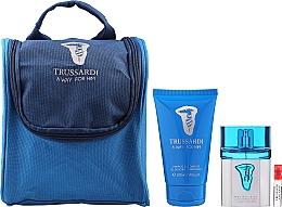 Düfte, Parfümerie und Kosmetik Trussardi A Way For Him - Duftset (Eau de Toilette 50ml + Duschgel 100ml + Kosmetiktasche)