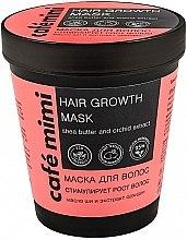 Düfte, Parfümerie und Kosmetik Maske zum Haarwachstum mit Sheabutter und Orchideenextrakt - Cafe Mimi Mask