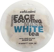 Düfte, Parfümerie und Kosmetik Beruhigendes Maske-Peeling mit weißem Tee und Lotus - Cafe Mimi Face Mask