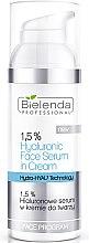 Düfte, Parfümerie und Kosmetik Creme-Serum für das Gesicht mit Hyaluron - Bielenda Professional Face Program 1.5% Hyaluronic Face Serum In Cream
